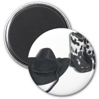 CowboyHatBoots092610 Imán Redondo 5 Cm