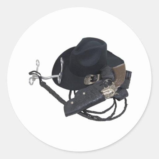 CowboyHatTools090309 Classic Round Sticker