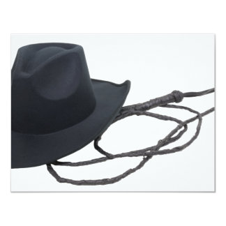 CowboyHatWhip090309 4.25x5.5 Paper Invitation Card