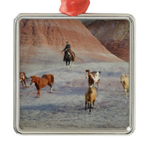 Cowboys 3 metal ornament