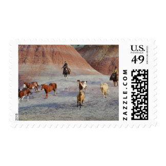 Cowboys 3 postage stamp