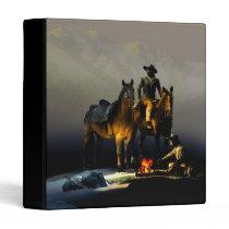 Cowboys and Horses Binder