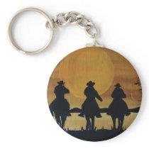cowboys and horses keychain