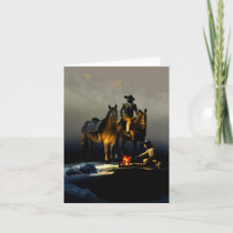 Cowboys and Horses Note Card