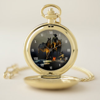 Cowboys and Horses Pocket Watch