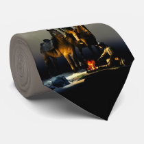 Cowboys and Horses Tie