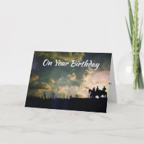 COWBOYS AT DAWN FOR YOU SPECIAL **BIRTHDAY** CARD