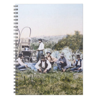 Cowboys at Lunch, 1904 (photo) Spiral Notebook