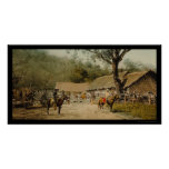 Cowboys at Mexican Hacienda 1890 Posters