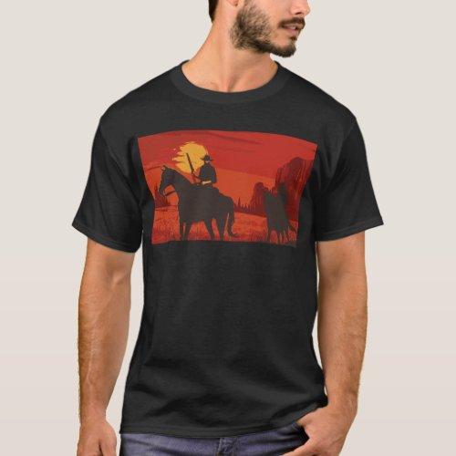 Cowboys at Night T_Shirt