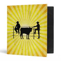 Cowboys at Ranch; yellow Binder