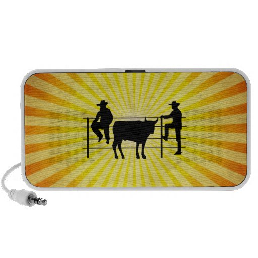 Cowboys at Ranch; yellow Mini Speaker