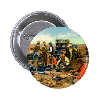 Cowboys at the Chuck Wagon Button