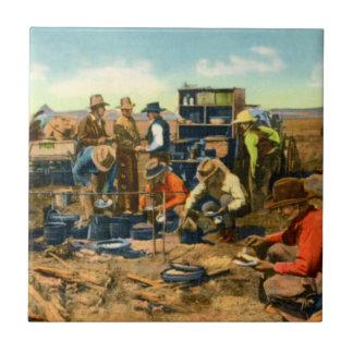 Cowboys at the Chuck Wagon Tile