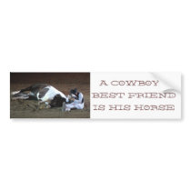 Cowboy's Best Friend - bumper sticker