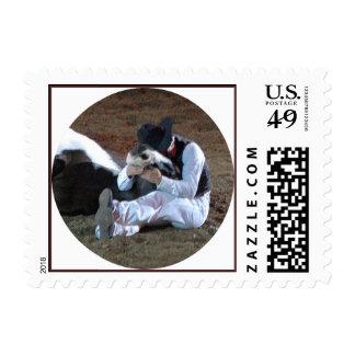 Cowboy's Best Friend Postage Stamp