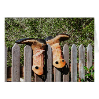 Cowboys Boots Card
