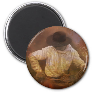 Cowboys - Boots, Wild Horses & Western Sunsets 2 Inch Round Magnet