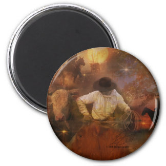 Cowboys - Boots, Wild Horses & Western Sunsets Magnet