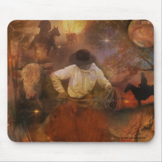 Cowboys - Boots, Wild Horses & Western Sunsets Mouse Pad