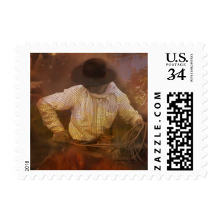 Cowboys - Boots, Wild Horses & Western Sunsets Postage Stamp