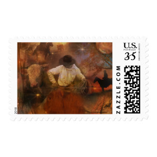 Cowboys - Boots, Wild Horses & Western Sunsets Postage Stamps