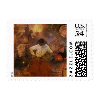 Cowboys - Boots, Wild Horses & Western Sunsets Stamp