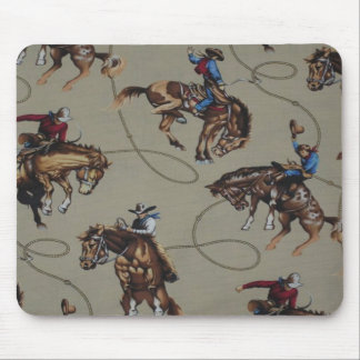 Cowboys Bronc Ridin Horses Mousepad