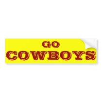 Cowboys Bumper Sticker