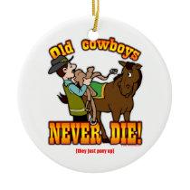 Cowboys Ceramic Ornament