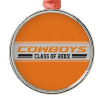 Cowboys Class Year Metal Ornament