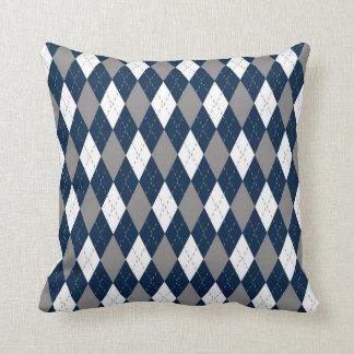 Cowboys Colors Argyle Pattern Pillow