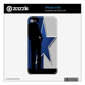 Cowboys Decal For iPhone 4