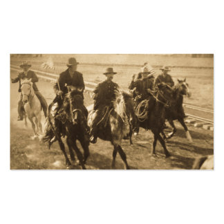 Cowboys Following Teddy Roosevelt's Train 1903 Business Card