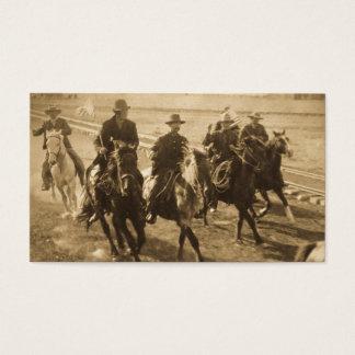 Cowboys Following Teddy Roosevelt's Train 1903 Business Card