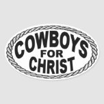 Cowboys for Christ Euro Style Oval Stickers