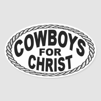 Cowboys for Christ Euro Style Oval Sticker