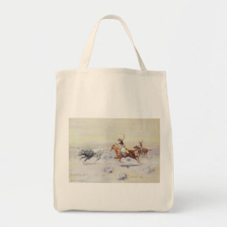 Cowboys from the Bar Triangle by CM Russell Grocery Tote Bag