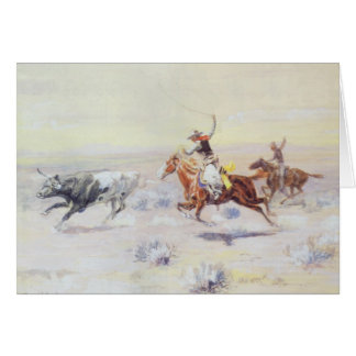 Cowboys from the Bar Triangle by CM Russell Card
