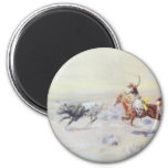 Cowboys from the Bar Triangle by CM Russell Fridge Magnet