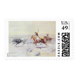 Cowboys from the Bar Triangle by CM Russell Postage