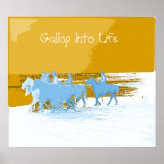 cowboys, Gallop Into Life Print