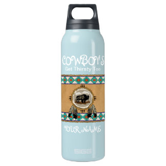 Cowboy's Get Thirsty Too Insulated Water Bottle