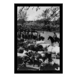 Cowboys Hearding Cattle on a Ranch in Chile 1897 Print