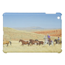 Cowboys herding horses cover for the iPad mini