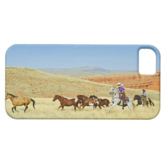 Cowboys herding horses iPhone SE/5/5s case