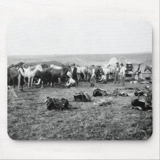 Cowboys Hobbling Horses: 1906 Mouse Pad