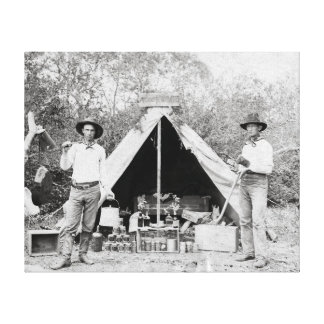 Cowboys in Camp, 1890 Canvas Print
