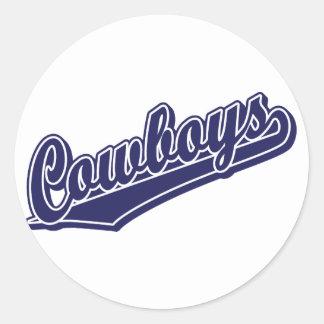 Cowboys in Custom Blue 1 Classic Round Sticker