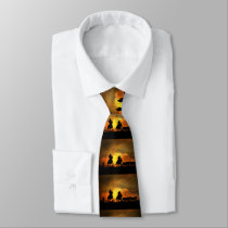 Cowboys in the sunset roundup tie